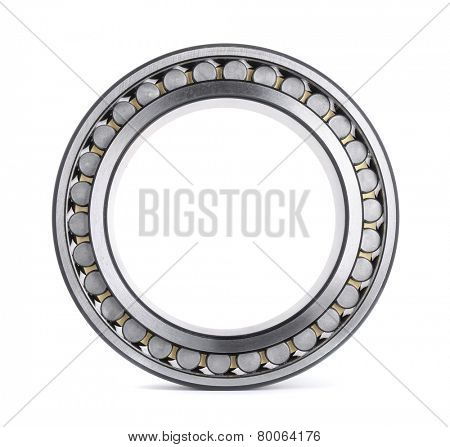 Cylindrical roller bearing isolated on white