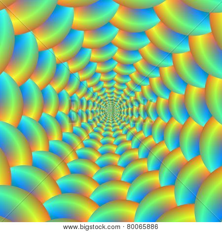 Blue And Yellow Ball Spiral