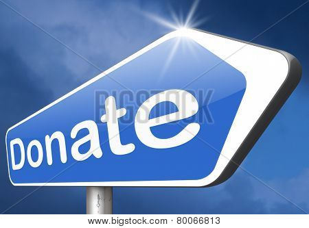 donate charity give or help fund raising