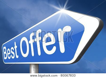 best offer lowest price for value web shop or online promotion