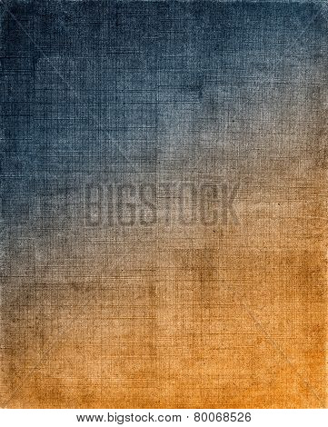 Blue To Orange Cloth Background