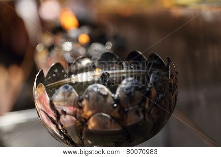 Oil Lamp Arranged In Patterns