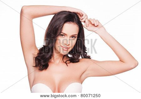 Flaunting Her Femininity.