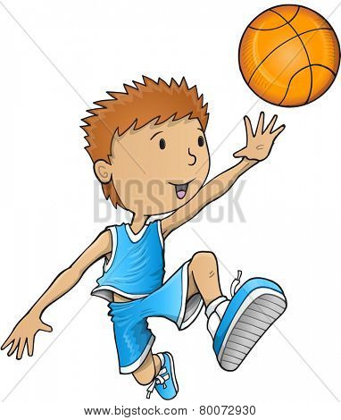 Basketball Player Vector Illustration Art