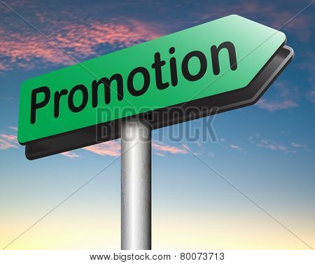 job promotion or product summer or winter sales promotion