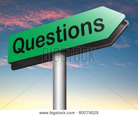 questions and solutions need serious answers helps or support desk information answer question road sign
