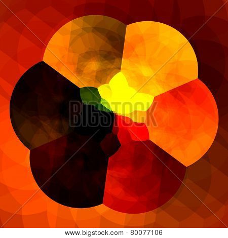 Abstract orange background for design artworks. Colorful fractals. Creative flower digital artwork.
