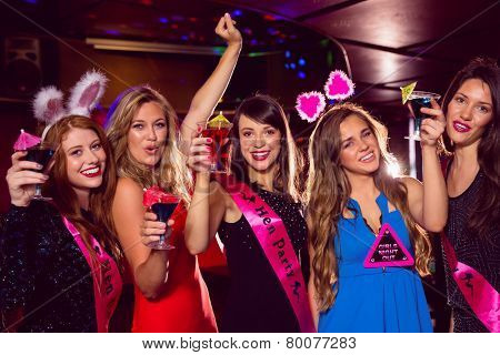 Pretty friends on a hen night at the nightclub