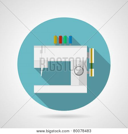 Flat vector icon for sewing machine