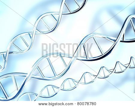 Digital 3d model of DNA structure