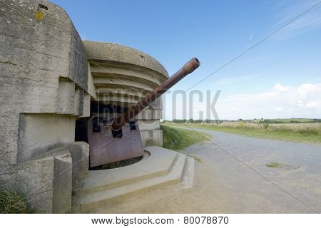 Battery of Longues sur Mer, Normandy, France