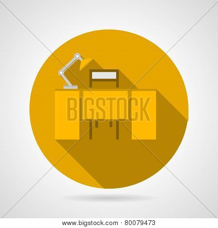 Flat vector icon for office desk