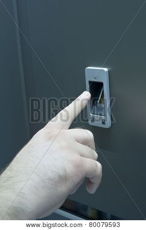 Security Finger Print Door Open