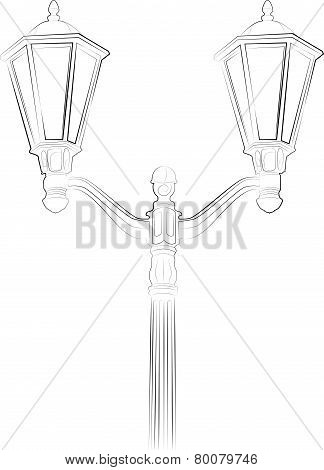 Streetlight. Vector Illustration On White Background.