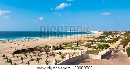 Panoramic View Of Chaves Beach Praia De Chaves In Boavista Cape Verde - Cabo Verde