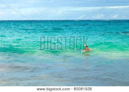 Bermuda Beach Swimmer