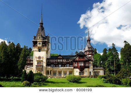 Peles Castle In Sinaia, Romania