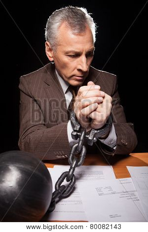 Chained Businessman.