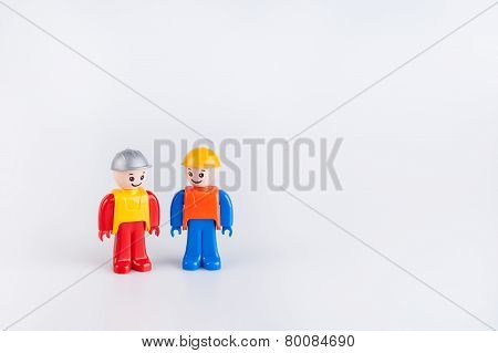 Miniatures of construction workers