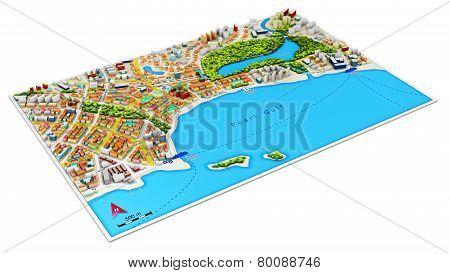 3D city map