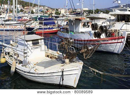 Fishing Boats in the Aegean Sea.