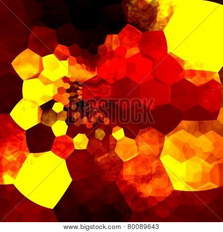 Abstract background mosaic. Orange yellow art design pattern. Messy unorganized geometric chaos.