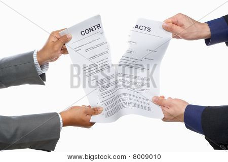Fighting Over Contract