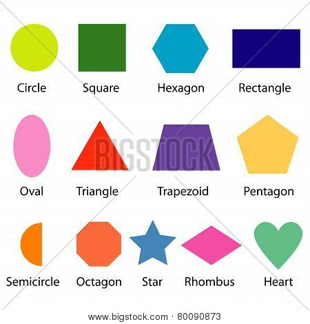 Shapes Chart For Kids Vector.eps