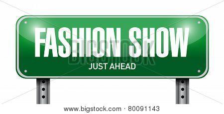 Fashion Show Road Sign Illustration Design