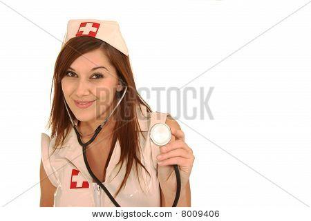 Beautiful Brunette Nurse