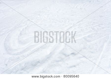 Snowfield With Ski Runs And Paths In Snow