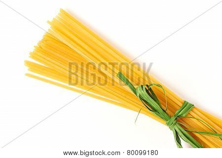 Spaghetti Tied With Green Ribbon