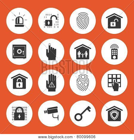 Home security icons