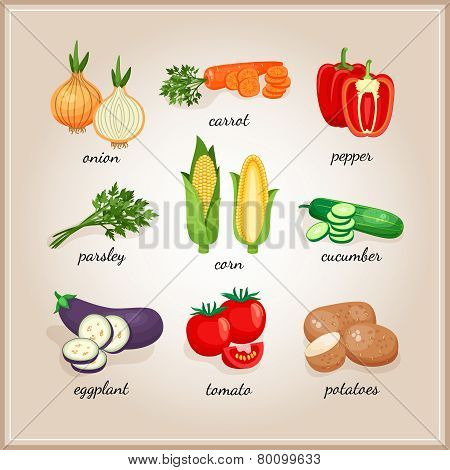 Vegetables ingredients