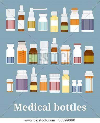 Medicine bottles collection