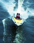 image of outboard engine  - boat race - JPG