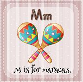 picture of maracas  - A letter M which stands for maracas - JPG