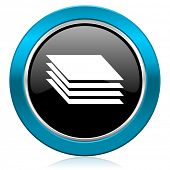 foto of gage  - layers glossy icon gages sign  - JPG