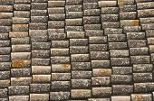 foto of roof tile  - Old tiled roof - JPG
