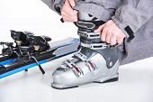 image of ski boots  - Close - JPG
