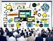 stock photo of seminars  - Business People Responsive Design Technology Seminar Concept - JPG