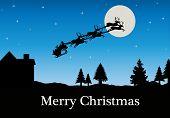 picture of santa sleigh  - Christmas Vector  - JPG