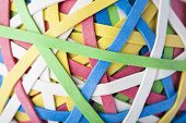 picture of rubber band  - Close Up Of Rubber Multi Colored Band Ball - JPG