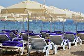 picture of gumbet  - Mediterranean beach during hot summer day - JPG