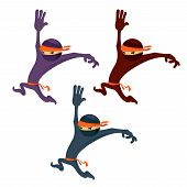 picture of ninja  - Vector image of a cartoon ninja or karate man - JPG