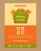 image of petting  - Logo for animal clinic - JPG