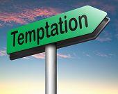 stock photo of irresistible  - temptation resist devil temptations lose bad habits by self control  - JPG