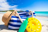 stock photo of frisbee  - Beach bag - JPG