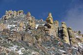 foto of hoodoo  - Hoodoo rock formations on Mt - JPG