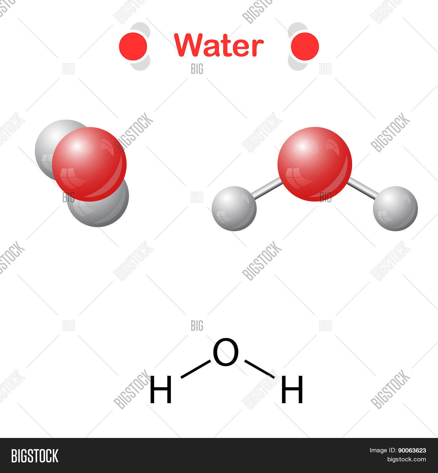 Water Molecule Icon Chemical Vector Photo Bigstock Diagram Of And Formula